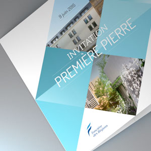 conception graphique d'un invitation
